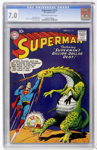 Superman #114 (DC, 1957) CGC FN/VF 7.0 Cream to off-white pages