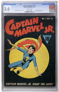 Captain Marvel Jr. #1 (Fawcett, 1942) CGC GD/VG 3.0 Off-white pages