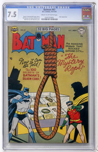 Batman #67 (DC, 1951) CGC VF- 7.5 Cream to off-white pages