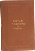 Books:First Editions, Mark Twain. Mark Twain's (Burlesque) Autobiography and FirstRomance....