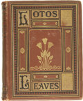 Books:First Editions, John Brougham and John Elderkin (Editors). Lotus Leaves OriginalStories, Essays, and Poems....