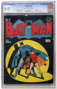 Batman #9 (DC, 1942) CGC FN 6.0 Cream to off-white pages
