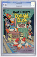 Golden Age (1938-1955):Cartoon Character, Four Color #275 Donald Duck (Dell, 1950) CGC VF/NM 9.0 Cream tooff-white pages....