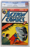 Golden Age (1938-1955):Superhero, Action Comics #20 (DC, 1940) CGC FN/VF 7.0 White pages....