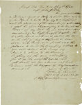 Military & Patriotic:Civil War, John C. Terrell Autograph Letter Signed. ...