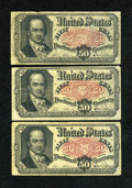 Fractional Currency:Fifth Issue, Fr. 1381 50c Fifth Issue. Three Examples. Fine.... (Total: 3 notes)