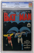Golden Age (1938-1955):Superhero, Batman #3 (DC, 1940) CGC FN+ 6.5 Cream to off-white pages....