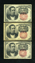 Fractional Currency:Fifth Issue, Fr. 1265 10c Fifth Issue. Choice AU. Fr. 1266 10c Fifth Issue. TwoExamples. Fine.. ... (Total: 3 notes)