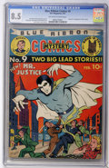 Golden Age (1938-1955):Superhero, Blue Ribbon Comics #9 (MLJ , 1941) CGC VF+ 8.5 Off-white to white pages....