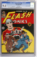 Golden Age (1938-1955):Superhero, Flash Comics #48 Mile High pedigree (DC, 1943) CGC NM- 9.2 White pages....