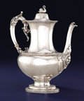 Silver Holloware, Continental:Holloware, A CONTINENTAL SILVER COFFEE POT. Unknown maker, possibly Portugueseor Italian, circa 1900. Unmarked. 11 inches high x 10-3/...