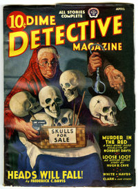 Dime Detective Magazine April 1940 File Copy (Popular, 1940) Condition: VG