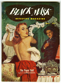 Black Mask V36#2 (Fictioneers Inc., 1951) Condition: FN