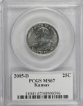 Statehood Quarters, 2005-D 25C Kansas MS67 PCGS. PCGS Population (348/14). NumismediaWsl. Price for NGC/PCGS coin in MS67:...