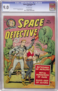 Space Detective #2 (Avon, 1951) CGC VF/NM 9.0 Off-white pages