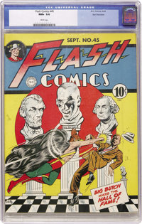 Flash Comics #45 San Francisco pedigree (DC, 1943) CGC NM+ 9.6 White pages