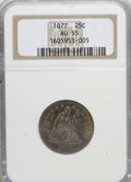 Seated Quarters: , 1877 25C AU55 NGC. NGC Census: (7/285). PCGS Population (3/300).Mintage: 10,911,710. Numismedia Wsl. Price for NGC/PCGS co...