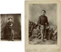 Photography:Cabinet Photos, Two Indian War Era Military Cabinet Cards.... (Total: 2 Items)