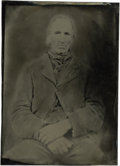 Photography:Tintypes, Tintype, Half Plate, Rugged Looking Man,...
