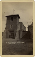 Photography:Cabinet Photos, Cabinet Card, San Miguel Church, Santa Fe, New Mexico, c.1889,...