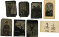 Photography:Tintypes, Collection of Eight Cowboy Images, Seven Tintypes & One CDV.... (Total: 8 Items)