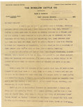 "Western Expansion:Cowboy, Humorous ""Cowboy"" Typed Letter, Winslow Cattle Co., Fort Apache,Arizona,..."