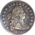 Early Dimes, 1804 10C 14 Stars on Reverse VF20 ANACS....
