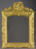 Decorative Arts, French:Other , A FRENCH LOUIS XVITH GILT WOOD MIRROR. Late 18th Century. 26 inches(66.0 cm) high. ...
