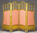 Furniture : Continental, A BELGIAN GILT WOOD FOLDING SCREEN. A. Lelaurain, Brussels, Late19th-Early 20th Century. 64 x 87 inches (162.6 x 221.0 cm)...