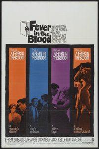 """A Fever in the Blood (Warner Brothers, 1961). One Sheet (27"""" X 41""""). Drama"""