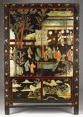 Asian:Chinese, A CHINESE LACQUERED ARMOIRE. 20th Century. 78-1/2 x 51-1/4 x 22-1/4inches (199.4 x 132.7 x 56.5 cm). ...