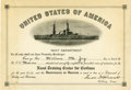 Autographs:U.S. Presidents, Franklin D. Roosevelt: Document Signed as Acting Secretary of the Navy....
