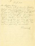 "Autographs:U.S. Presidents, Franklin D. Roosevelt: Autograph Note Signed ""Roosevelt"" as President...."