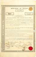 Autographs:Statesmen, Sam Houston 1836 Land Scrip Document Signed ...