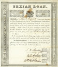 Autographs:Statesmen, Stephen F. Austin, Branch T. Archer, and William H. Wharton SignedFirst Texian Loan Certificate. ...