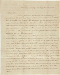 Autographs:Statesmen, Two Autograph Letters Signed by John D. Morris, 1843-1845. ...(Total: 2 Items)