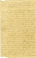 Military & Patriotic:Revolutionary War, Revolutionary War - Lexington and Concord Manuscript. ...