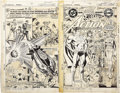 Original Comic Art:Covers, Ross Andru and Dick Giordano - Action Comics #500 Front and Back Covers Original Art (DC, 1979)....