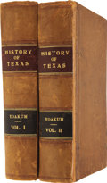 Books:Early Printing, H[enderson King] Yoakum. History of Texas, From Its First Settlement in 1685 to Its Annexation to the United States in 1... (Total: 2 Items)