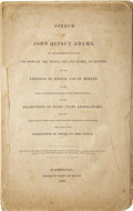 Books:Non-fiction, [John Quincy Adams]. Speech of John Quincy Adams, ofMassachusetts, Upon the Right of the People, Men and Women, toPeti...