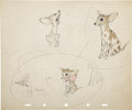 "Animation Art:Production Drawing, ""Society Dog Show"" Character Drawing Original Art (Disney,1939)...."