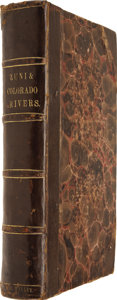 Books:First Editions, Captain Lorenzo Sitgreaves. Report of an Expedition Down theZuni and Colorado Rivers. (Thirty-second Congress. ...