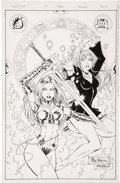 Original Comic Art:Covers, John Stinsman and Marlo Alquiza - Avengelyne #7 Cover Original Art(Maximum Press, 1996)....