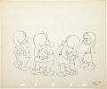 "Animation Art:Production Drawing, ""Snow White and the Seven Dwarfs"" Animation Production Drawing Original Art (Disney, 1937)...."