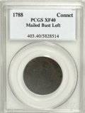 Colonials, 1788 COPPER Connecticut Copper, Mailed Bust Left XF40 PCGS....