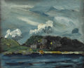 Fine Art - Painting, American:Modern  (1900 1949)  , ROBERT HENRI (American 1865-1929). Coastal Scene. Oil onpanel. 8 x 10 inches (20.3 x 25.4 cm). Provenance:. The Rober...