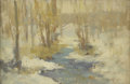 Fine Art - Painting, American:Modern  (1900 1949)  , EDMUND WILLIAM GREACEN (American 1877-1949). Winter Stream.Oil on canvas. 7-1/4 x 10-1/4 inches (18.4 x 26 cm). Prove...
