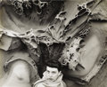 Photography :20th Century, MINOR WHITE (American 1908-1976). Untitled (Portrait of a Woman with Rock Abstraction) . Vintage silver print . 10-1/2 x...