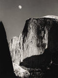 Photographs, ANSEL ADAMS (American 1902-1984). Moon and Half Dome, Yosemite National Park, California. Negative made 1960, printed by...