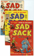 Silver Age (1956-1969):Humor, Sad Sack Comics File Copies Box Lot (Harvey, 1950-82) Condition: Average VF/NM unless otherwise noted.... (Total: 257 Comic Books)